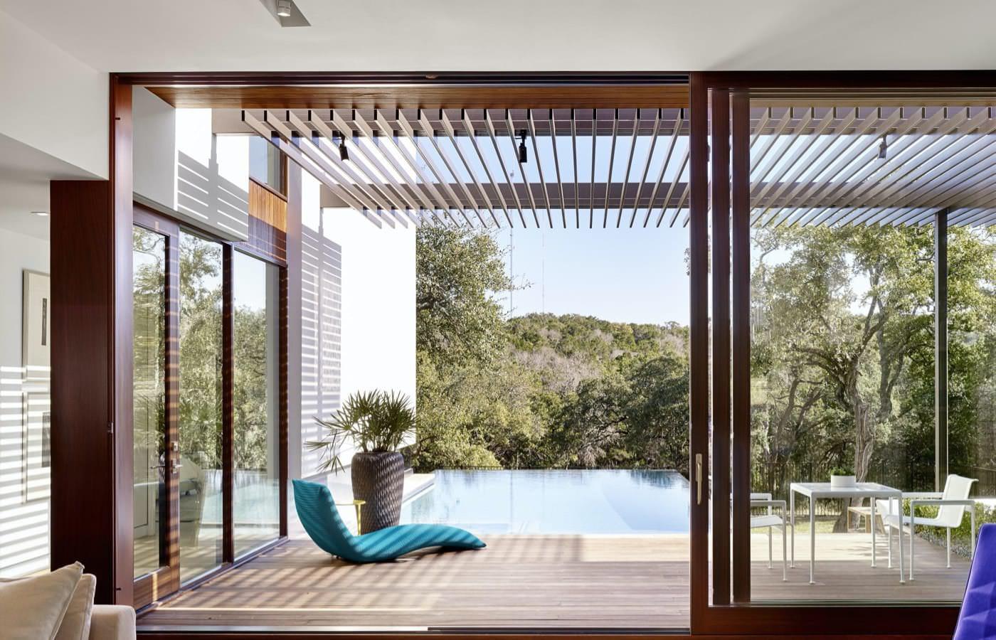 Wood Lift and Slide Doors