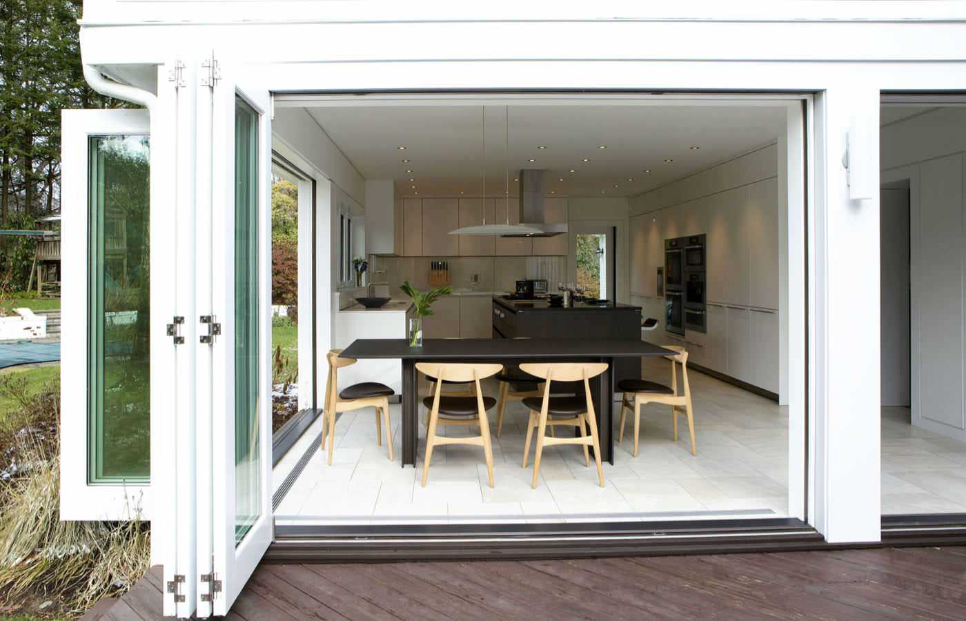 Wood Slide and Fold Doors